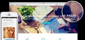 Grafik eines Webseiten-Projekts