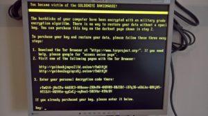 PC Bildschirm zeigt Malware - Befall an
